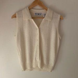 Vintage white sweater tank